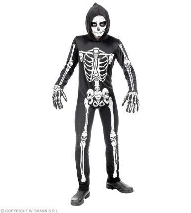 Kinderkostüm Skelett, Anzug Skelettkostüm Jungen Kinder