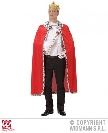 Umhang König mit Krone - Königskostüm Mantel
