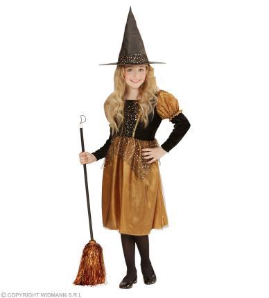 Kleine Hexe - Hexenkostüm Kinder - Halloween Mädchen 128 - 158 cm