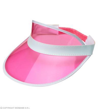 Pinke 80er Jahre Sonnenkappe - Kappe 80ties in pink