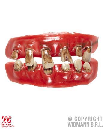 Zähne eines alten Mannes - Zahnsatz