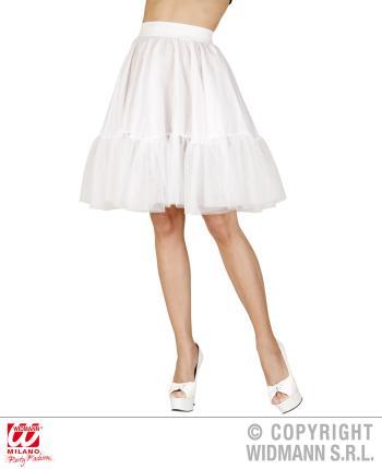 Petticoat in weiß für Erwachsene - Rock'n Roll - 70er Jahre Petti Coat