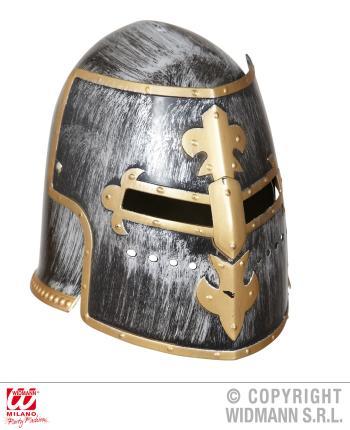 Mittelalterlicher Kriegerhelm mit Visir - Erwachsene