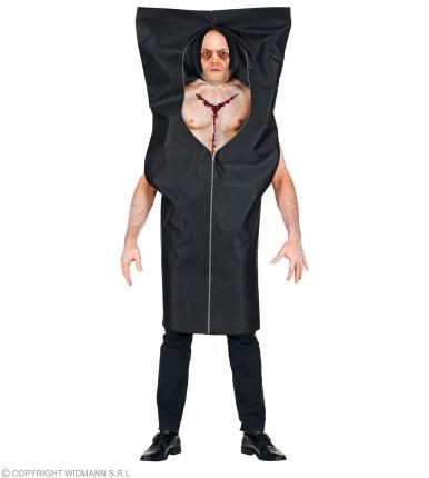 Kostüm Leichensack  in schwarz Gr. L/XL  Halloween Unisex