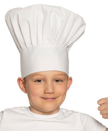 Kinder-Kochmütze, weiß - Chef deluxe Kinderkochmütze