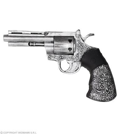 Authentischer Revolver aus Schaumlatext 25 cm