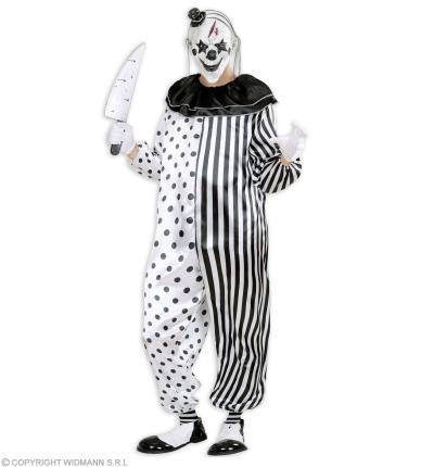 Kostüm Killer Clown Pierrot - Halloween Overall