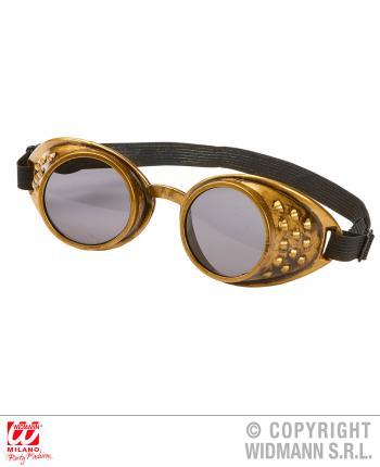 Bronzene Steampunk Brille - Retro Brillen