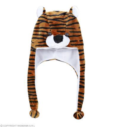 Tiger Mütze - Tiger Verkleidung -  Warme Tigermütze Tiermütze