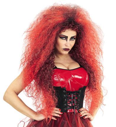 Teufel Hexen Perücke - rote wild devil Perücken Dame