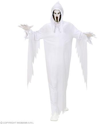 Kinderkostüm Geist - Gespenst Umhang Maske mit Kapuze