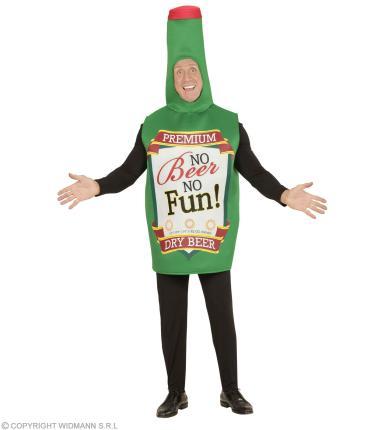 Grüne Bierflasche Kostüm Einteiler - Junggesellenabschied Bierkostüm