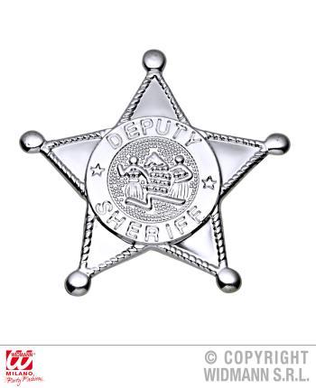 Silbriger Stern vom Sheriff - Sheriff Stern