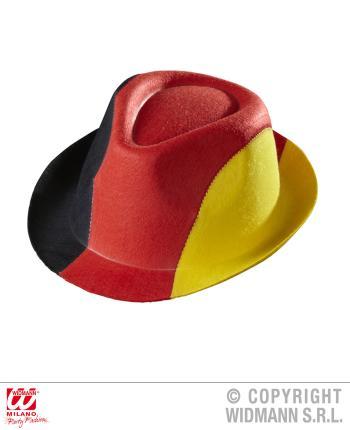 Deutschland Filzhut - schwarz-rot-gelb