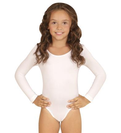 Kinder Body in weiß mit Ärmeln 4 bis 12 Jahre