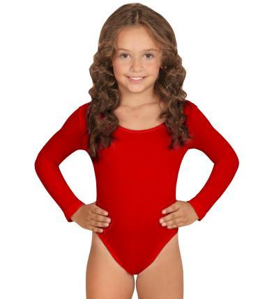 Kinder Body in rot  mit Ärmeln 4 bis 12 Jahre