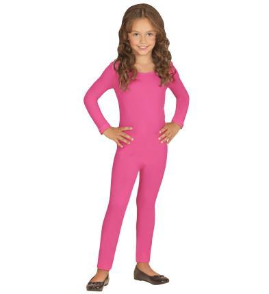 Langer Body für Kinder in rosa 4 bis 12 Jahre
