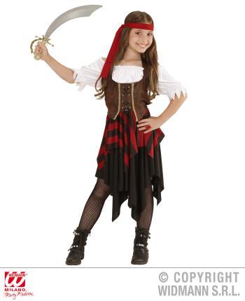 Kinder-Kostüm Abenteuer Piratin Gr. 128 cm -  Piratenkostüm Mädchen