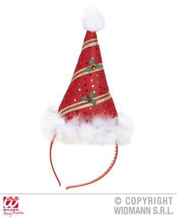 Weihnachtsmütze mini mit Marabu Form mit Bommel