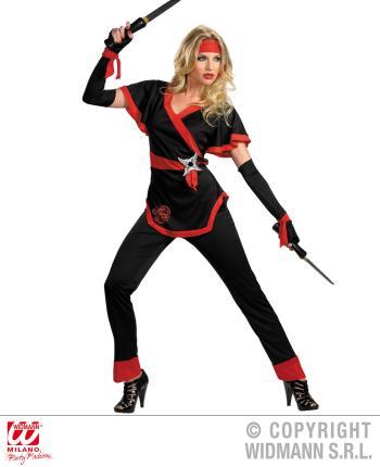 Ninja Kostüm Frau Sumurai Gr. S  - Ninjakämpferin Girl Power
