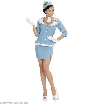 Süße Retro Stewardess Kostüm 60er Jahre