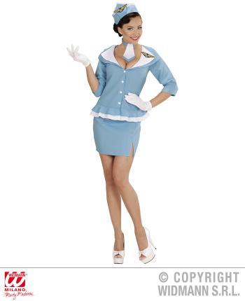 Süße Retro Stewardess Kostüm 60er Jahre Größe L