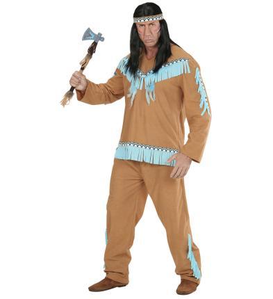 Herren Indianer Kostüm mit Oberteil, Hose, Stirnband