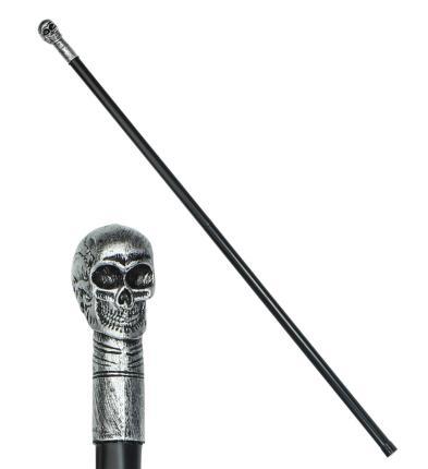 Zerlegbarer Totenkopfstab 105 cm lang - Totenkopf Stab Spazierstab