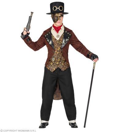 Steampunk Herrenkostüm - Retro Gentleman Kostüm Steam Punk S - 48/50