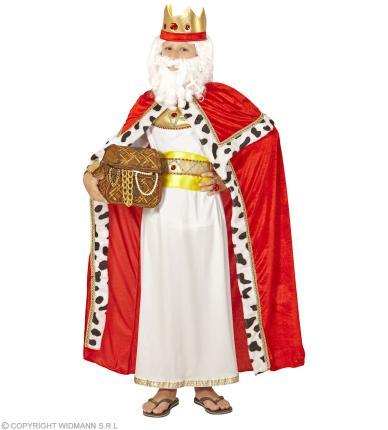 Königsumhang mit Krone - Biblischer König Kinder S - 128 cm