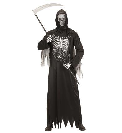 Herren Kostüm Sensenmann mit Kette + Maske  Halloween XL - 54/56