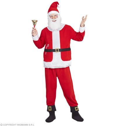 Weihnachtmann bis XXL  komplett Oberteil mit Bauch, Hose, Mütze mit Bart XXL - 56/58
