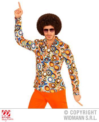 Groovy 70er Jahre Hemd Herren Schlager Gr. L/XL  - Bubbles