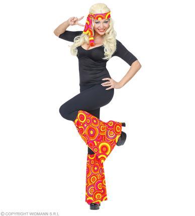 Kostüm Set Stirnband und Stulpen - Hippie Verkleidung 70er Jahre Bubbels orange