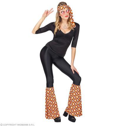 Kostüm Set Stirnband und Stulpen - Hippie Verkleidung 70er Jahre - Rhombus