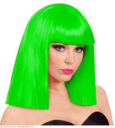 Perücke in neon grün Showgirl in Box - neongrüne Damenperücke