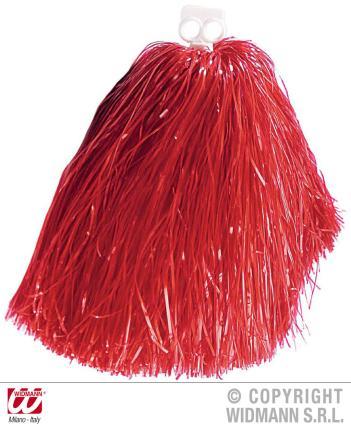 Roter Tanzwedel - Pom Pom rot  für Chearleader