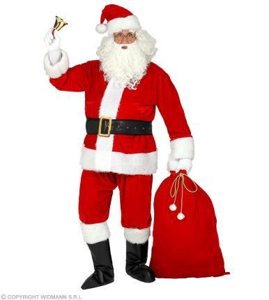 Professioneller Weihnachtsmann Gr. L/XL - mit Zubehör, Bart, Brille, Sack, ....