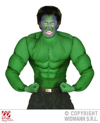 Super Muskelshirt grün - Superheld Größe S 48-50 - Muskelhemd Bodybuilder