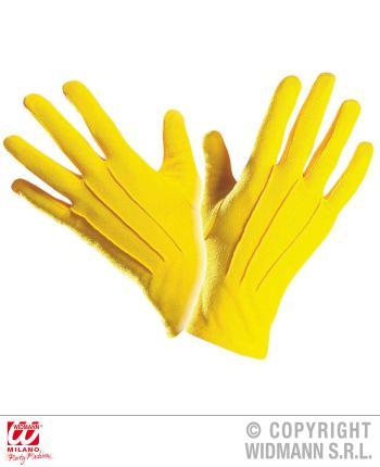 Gelbe  Handschuhe - Paar Handschuhe in gelb