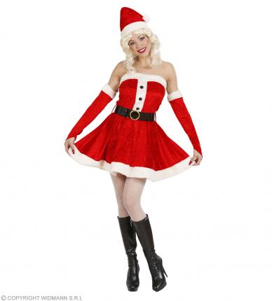 Weihnachtsfrau Plüsch Kostüm - Weihnachtskostüm Dame