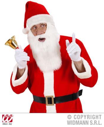 Santa Claus Mütze mit Bart -  Weihnachtsmütze  - Weihnachtsangebot