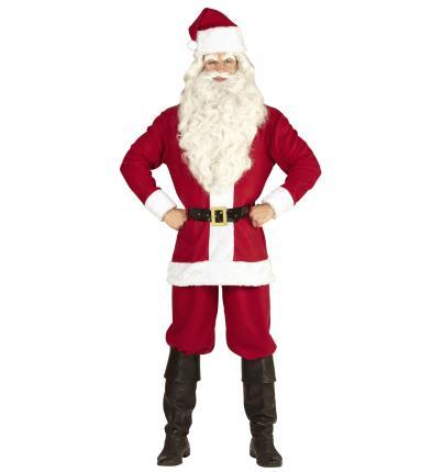 Weihnachtsmannkostüm mit Jacke, Hose, Gürtel, Hut M - 3 XL - Classic Nikolaus