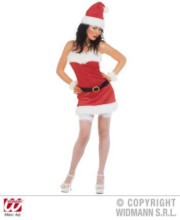 Weihnachtsfrau Kostüm Sexy S  - Miss Santa Fasching Gr. S