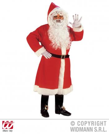 Luxus Weihnachtmann Mantel mit Perücke, Bart ,... M/L - komplett - Nikolaus