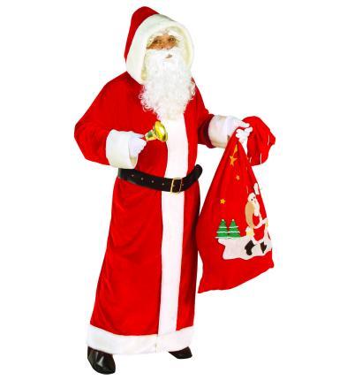 Santa Claus Kostüm  XL - Weihnachtsmann - Nikolaus SAMT Delux