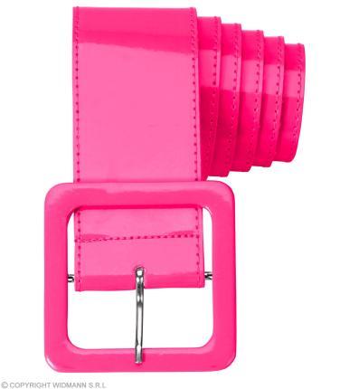 Neon pinker Gürtel aus Vinyl - Fasching Karneval - Party 112 cm