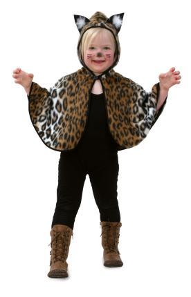 Cape Kätzchen mit Kapuze Katzen Kostüm Gr. 98 cm Katzenkostüm Kind