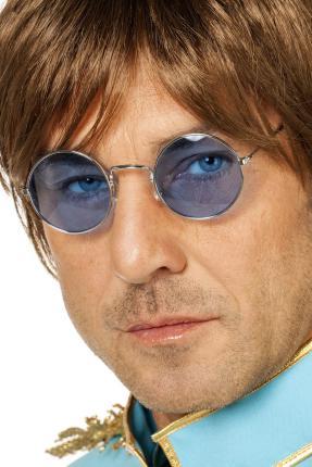 Brille John Lennon - blau - Hippie Brillen blau