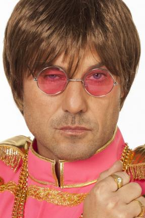 Brille John Lennon - rosa - Hippie Brillen pink